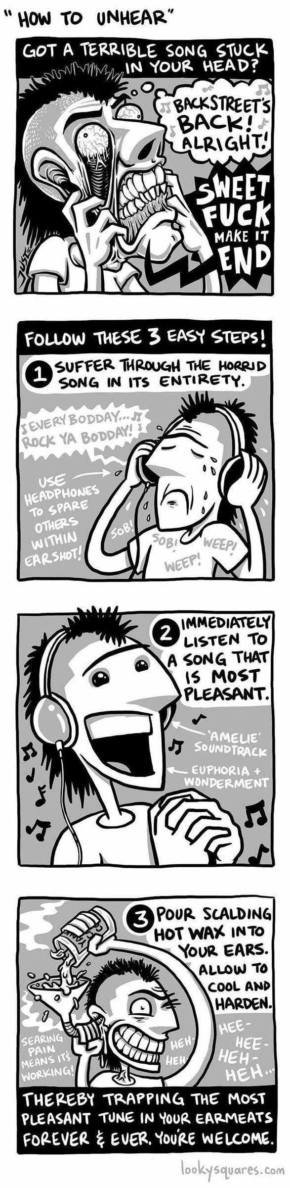 how to unhear the songs - meme