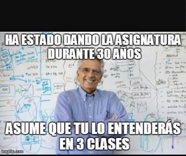 Profesores odiosos :v - meme