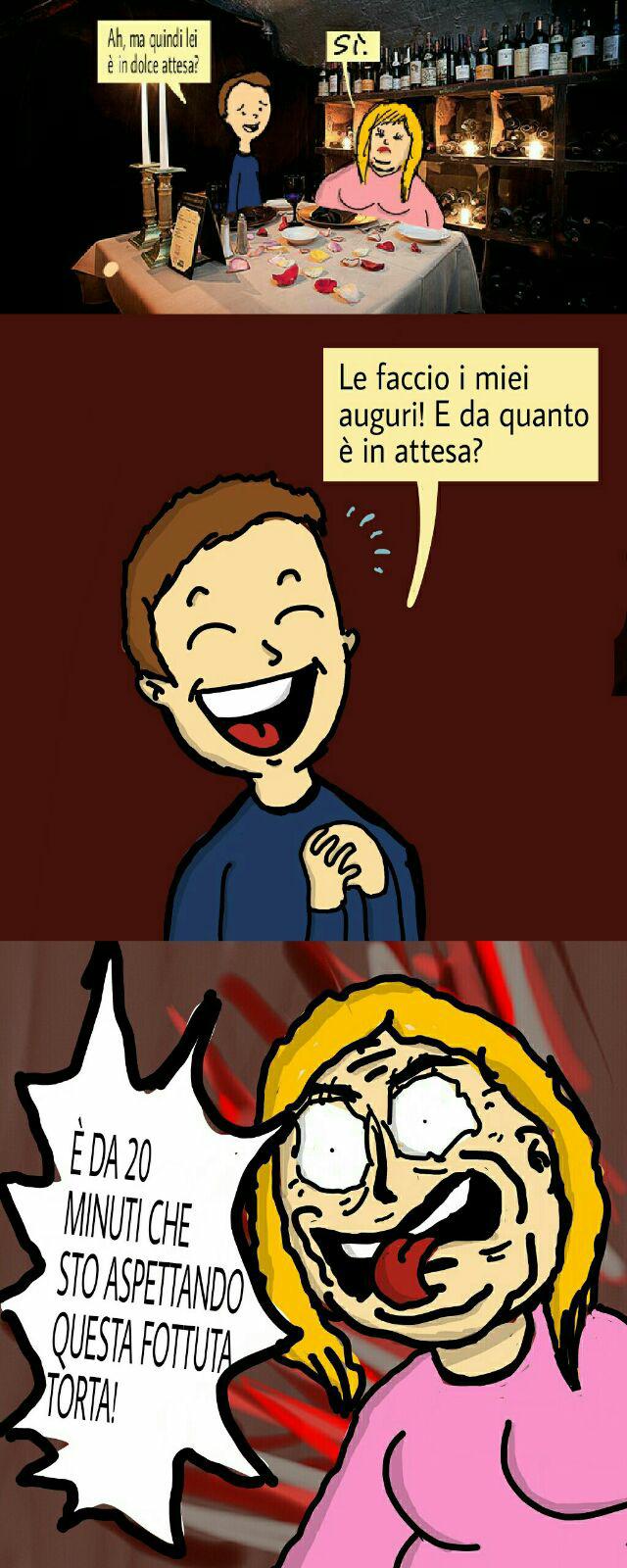 L'omino dei gelati pensa la donna sia incinta. Edit By Mortis - meme