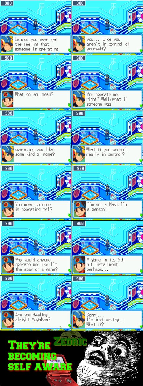 The game is MegaMan Battle Network 6 - meme