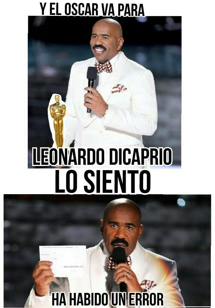 Leonardo en los Oscares - meme