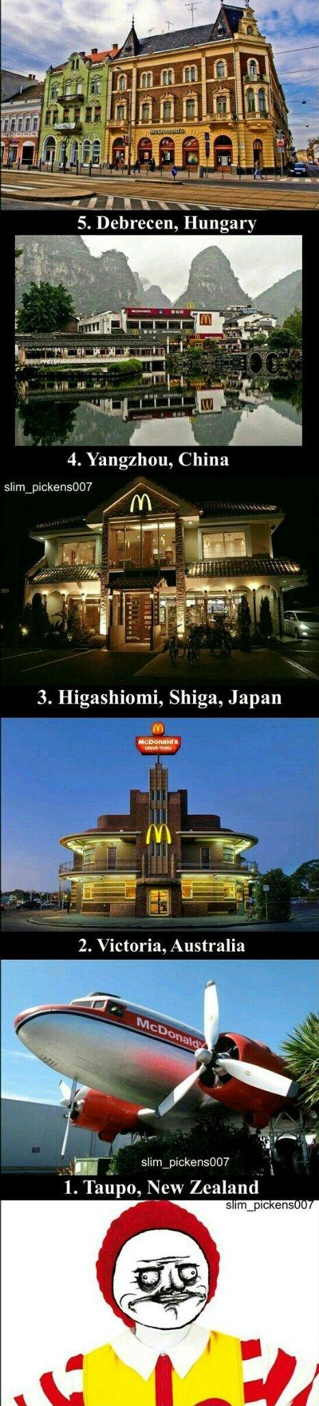Melhores restaurantes do Mcdonald - meme