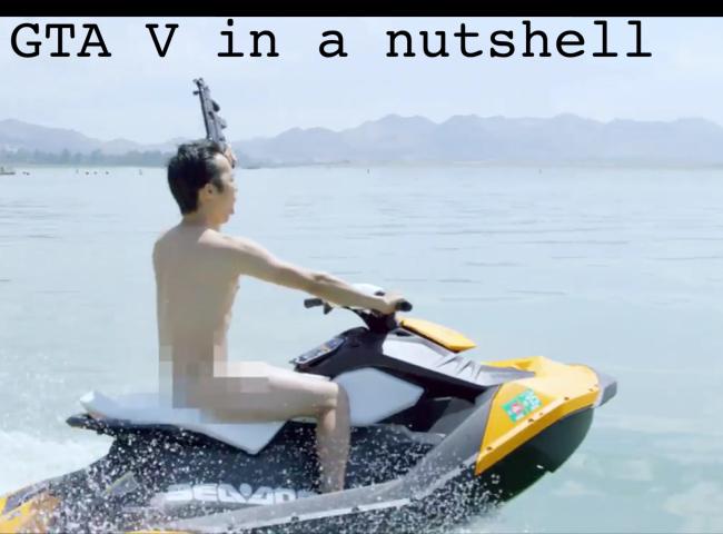 GTA V in a nutshell - meme