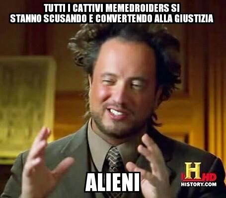 Il titolo è stato rapito dagli alieni - meme
