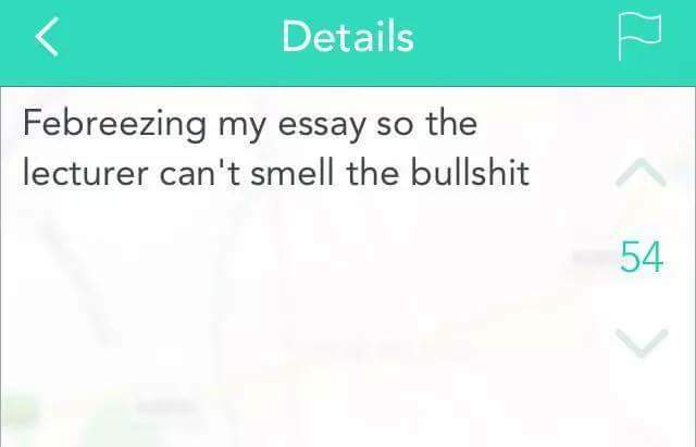 Ever filled up an essay with total bullsh*t? - meme