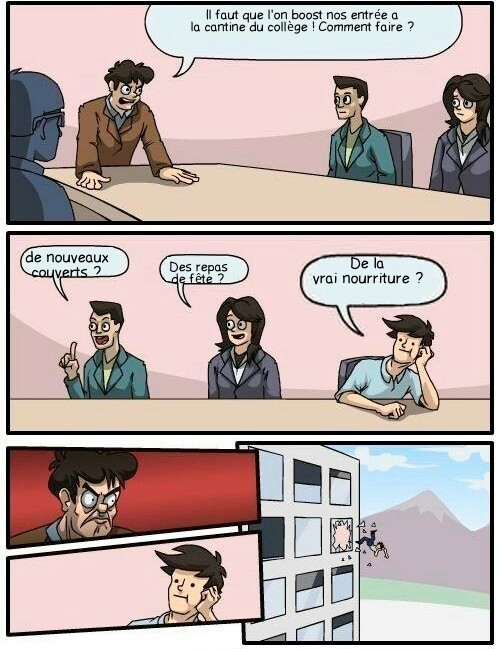 La cantine à l'école - meme