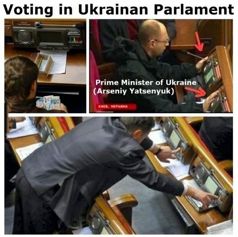 One for all: Voting in Ukrainian parlament - meme