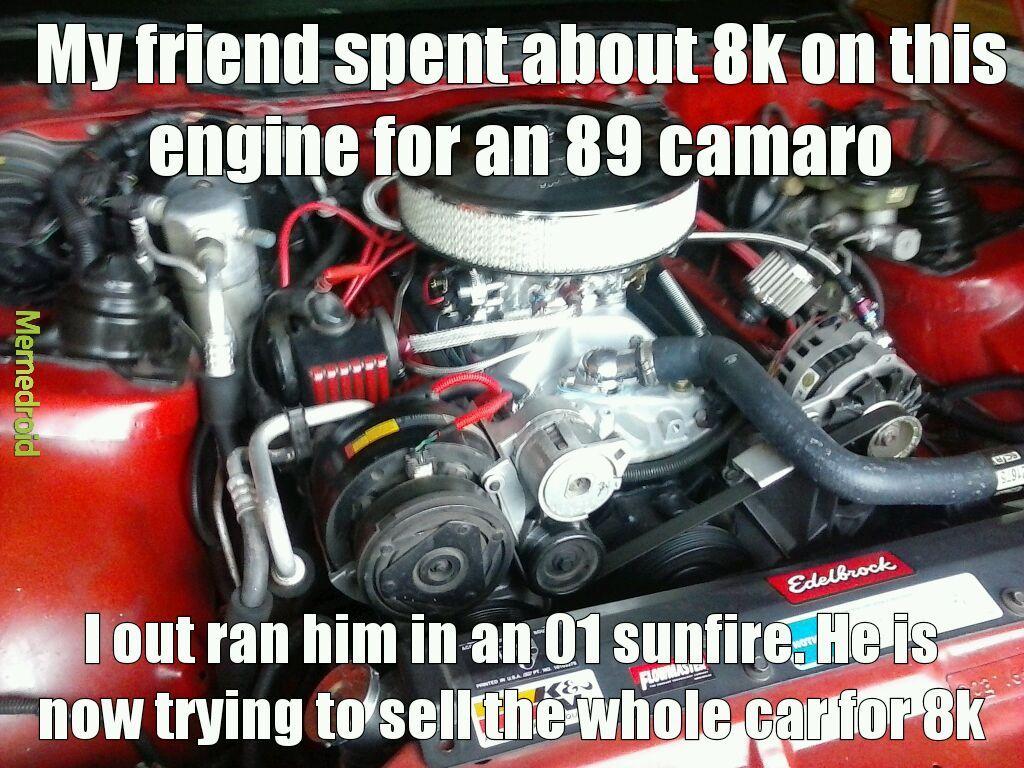 Thought it was a race car lol - meme