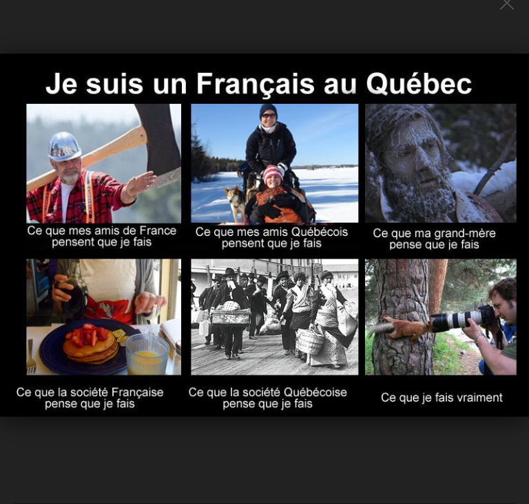 Le titre part au Quebec - meme