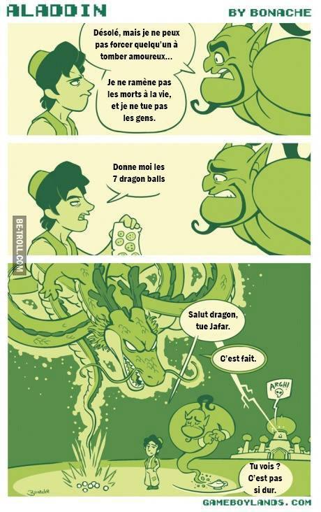 Génie vs Dragon - meme