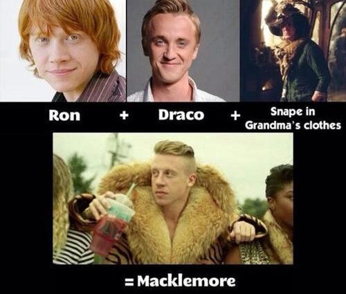 Snape in Grandma's clothes = Rogue en vêtement de grand-mère - meme