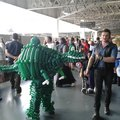 Jurassic world owen/dinosaur cosplay made out of balloons
