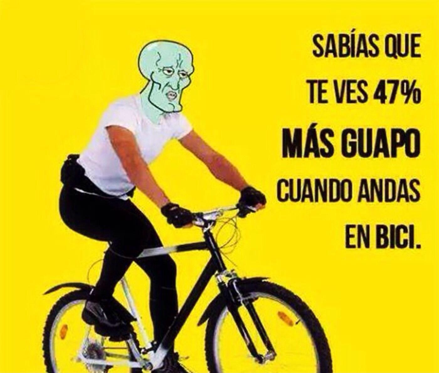 Anden en bicicleta ( ͡° ͜ʖ ͡°) - meme