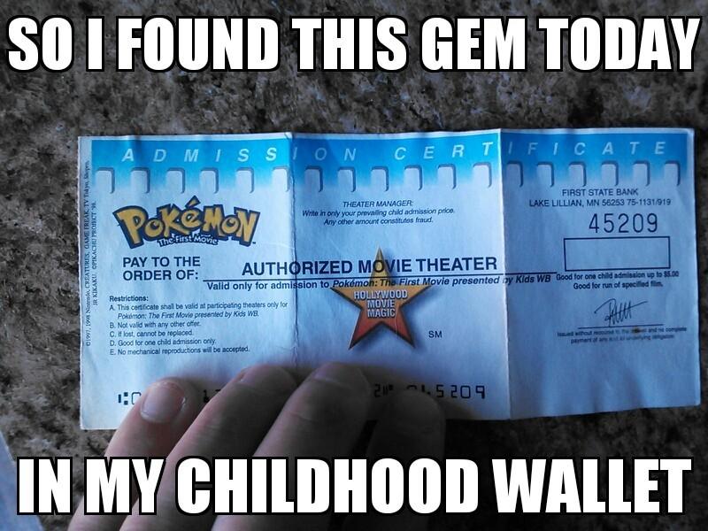 Pokemon the first movie, ticket! - meme