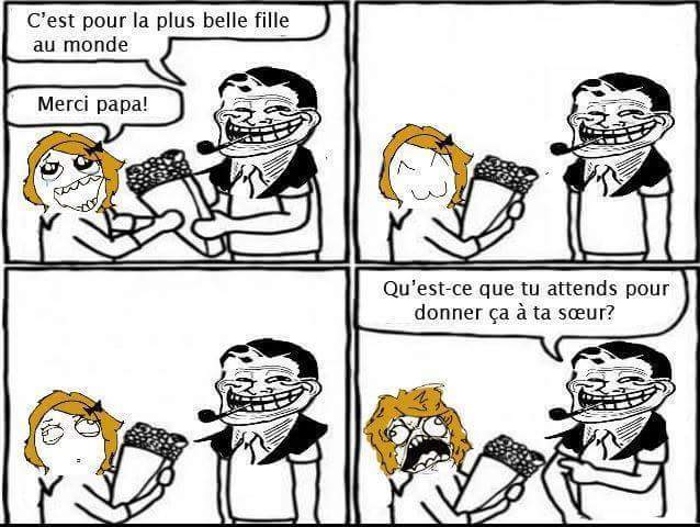 Papa trolleur ^^ - meme