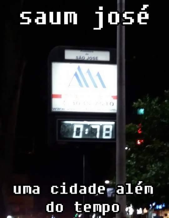 Agora a pouco - São José/SC - meme