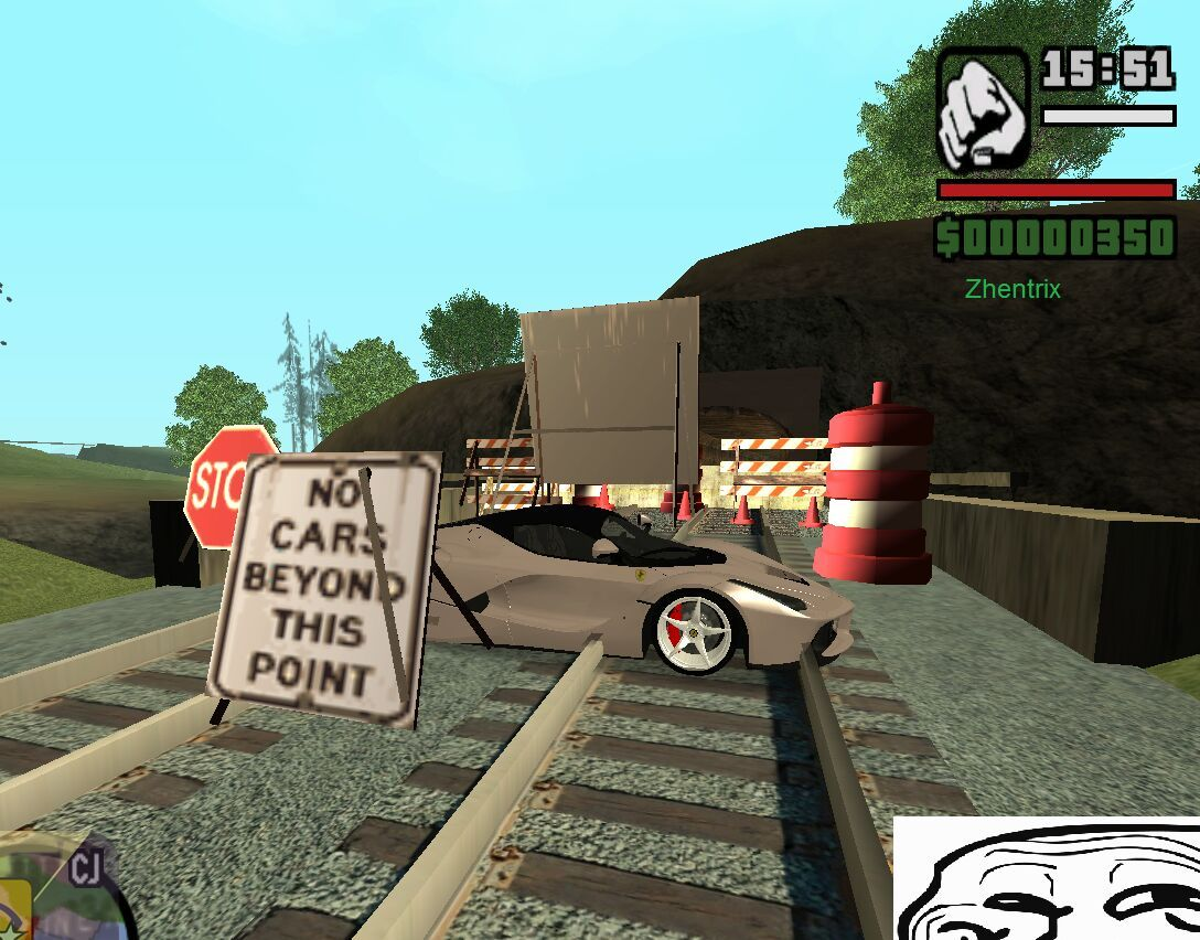 Cleo mods used:Car spawner and first person mod - meme