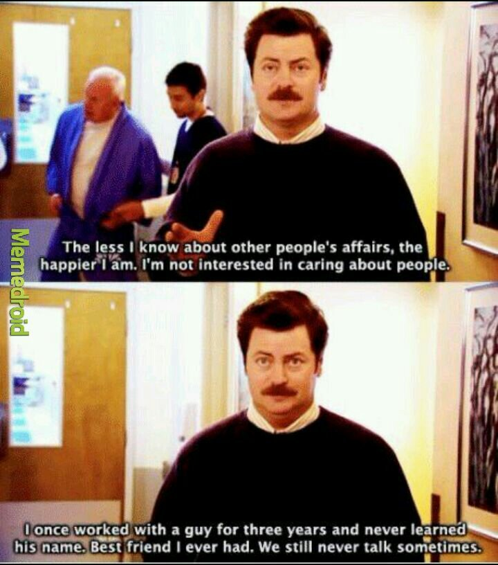 We all envy Ron Swanson - meme