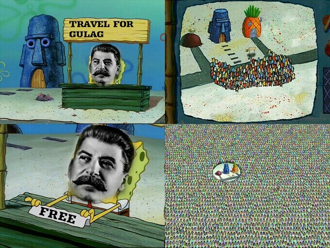 stalin are genorous! - meme