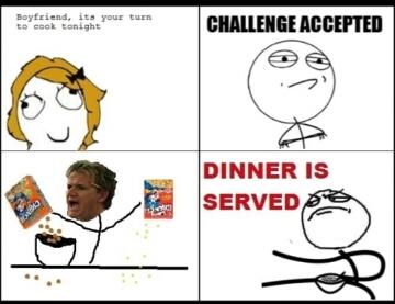 boys cook - meme