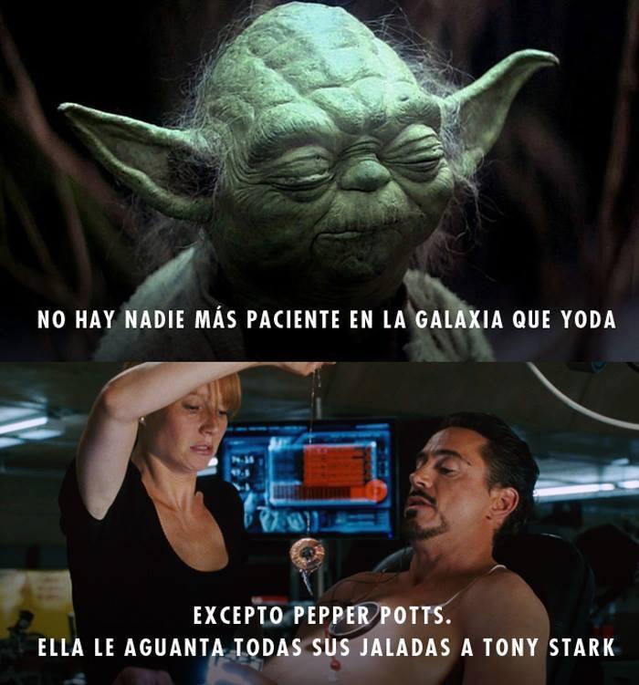 Esa Pepper tiene un chingo de paciencia - meme