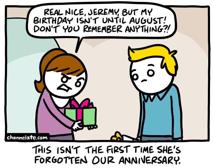 females forget anniversaries - meme