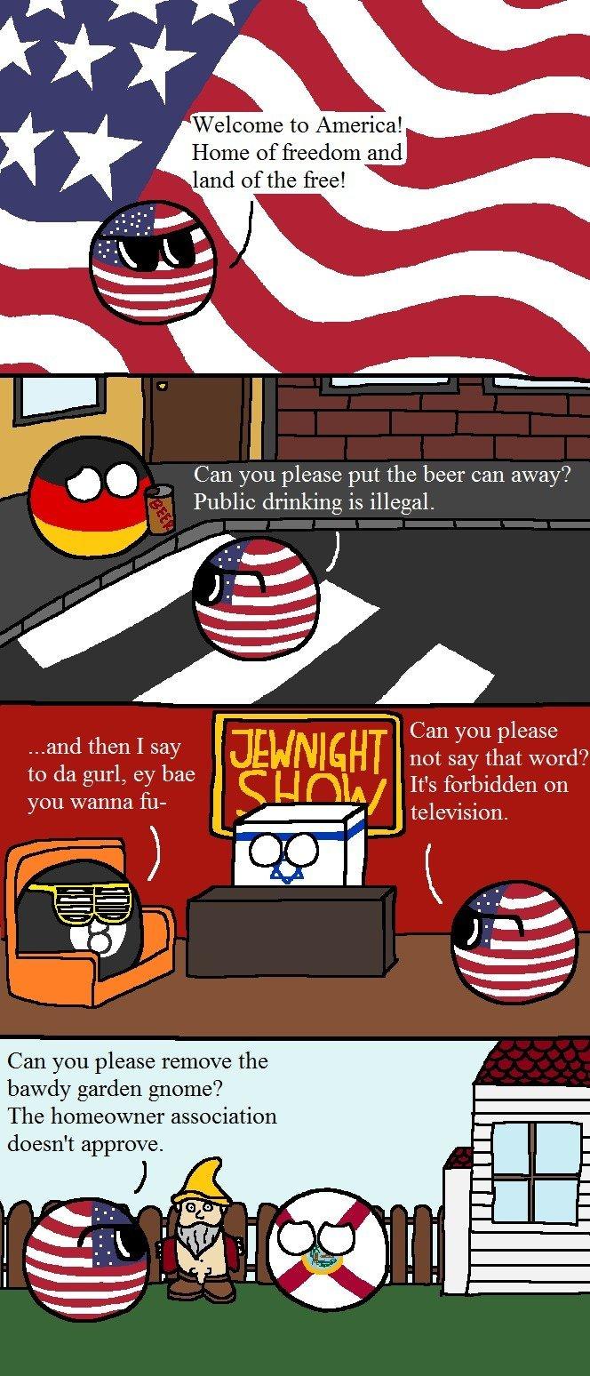 land of freedom - meme