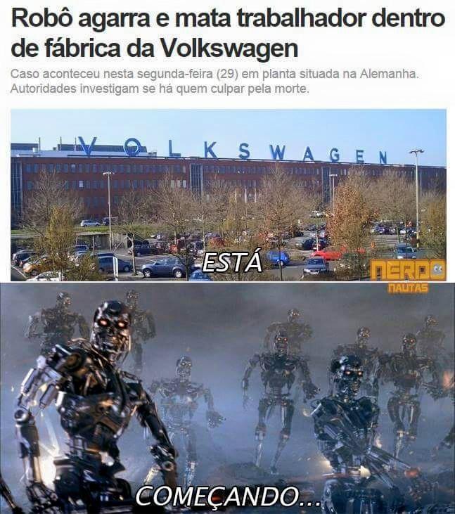 A Skynet começou a atacar :raising: - meme