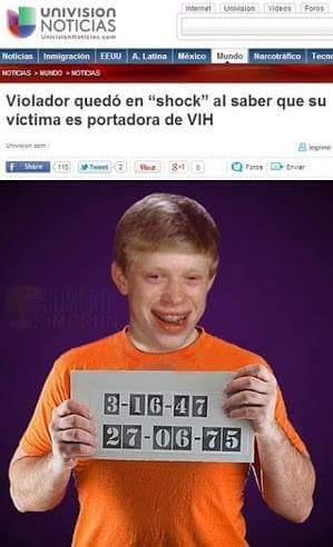 ¡Bad luck brian! - meme