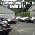 Meeting des voyageurs dans le temps