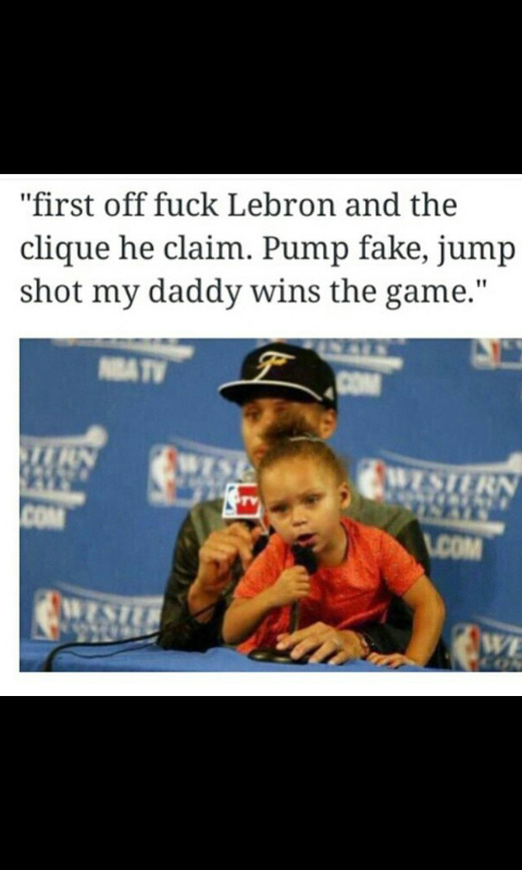 Stephen Curry and his daughter - meme