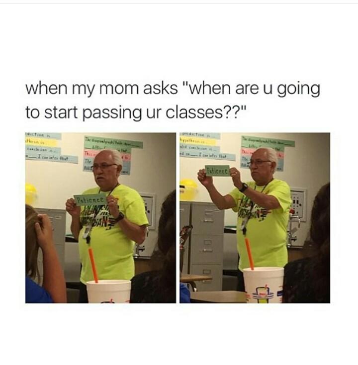 Patience - meme