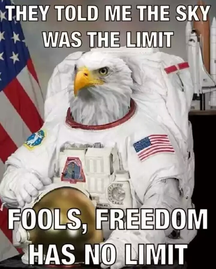 Freedom has no limet - meme
