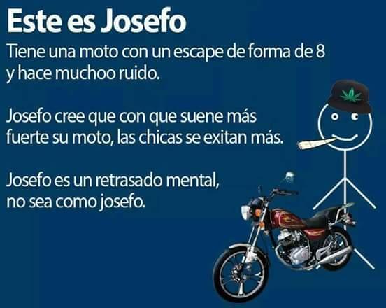 No se porque la gente cree que porque su moto suene muy fuerte, ya se creen como valentino rossi o algo asi - meme