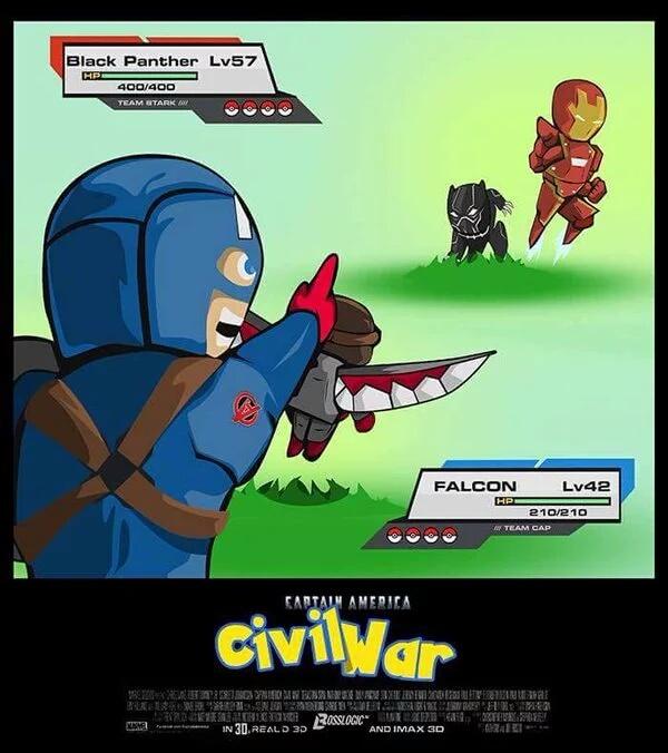 El título está viendo Civil War - meme