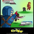 El título está viendo Civil War