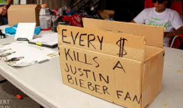 Chaque $ tue un fan de Justin Biber - meme