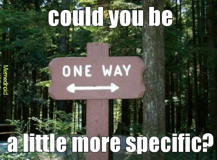 Which way? - meme