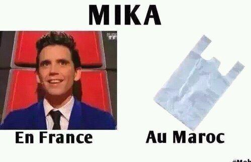 C'est trop sa xD (pour ceux qui ne savent pas, mika veut dire sachet en plastique en marocain) - meme