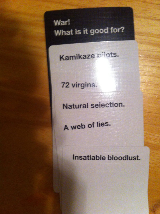 When CAH gets too real - meme