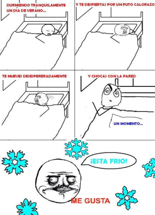 Like si tienes la cama junto a la pared - meme