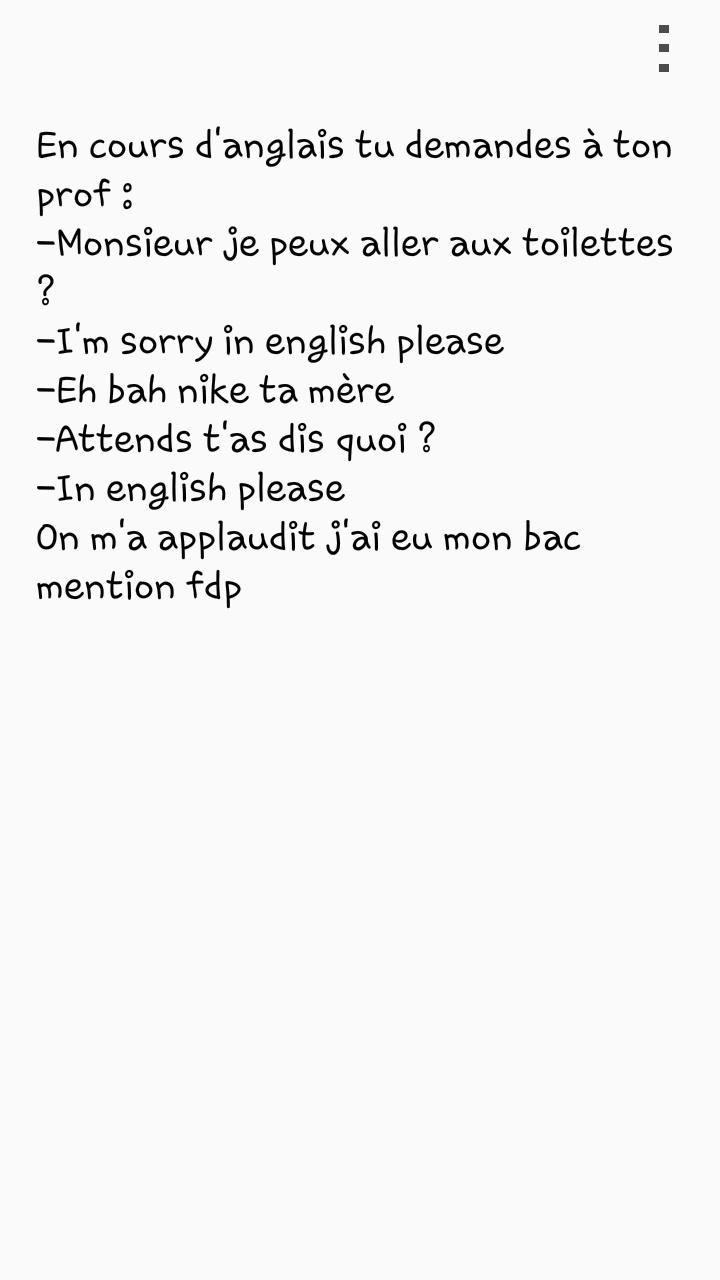 Cours d'anglais - meme