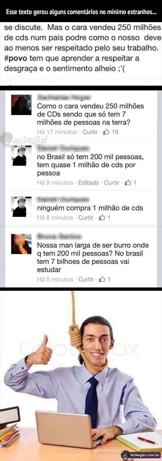 n sabia q tinha 7 bilhoes no brasil :v - meme
