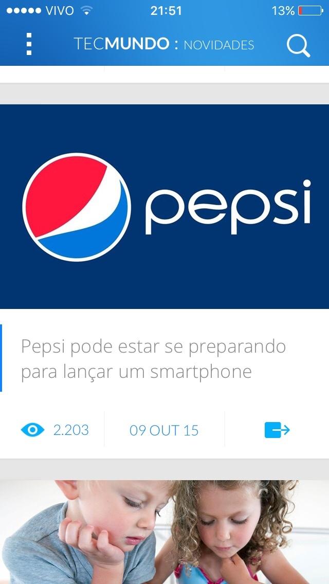 """""""Tem celular da coca?"""";""""não,só pepsi"""";""""pode ser /-:"""" - meme"""