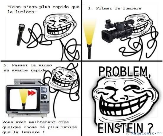 Un problème Einstein ? x) - meme