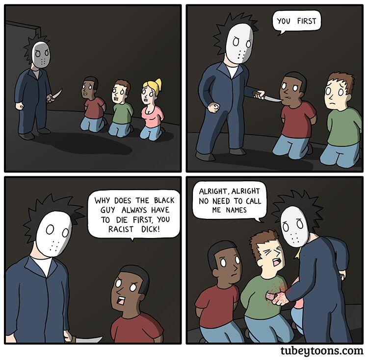 the black guy is smart - meme