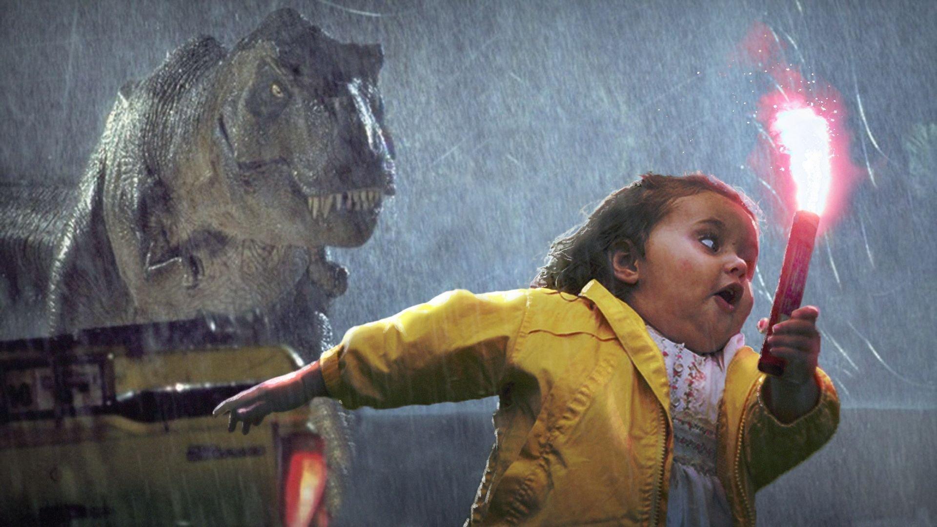 Oh mon dieu un t-rex sauvage apparait - meme