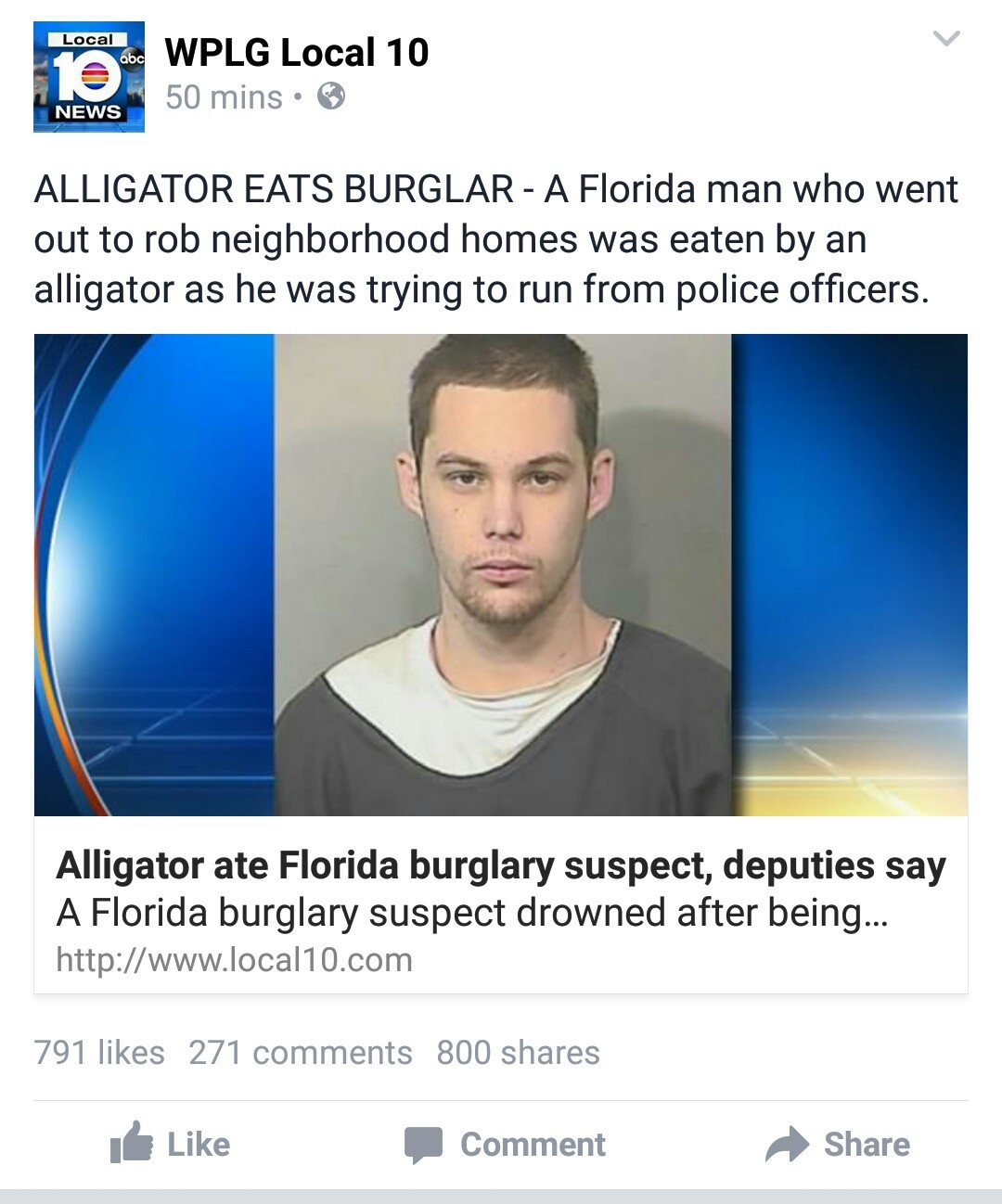 Typical Florida news - meme