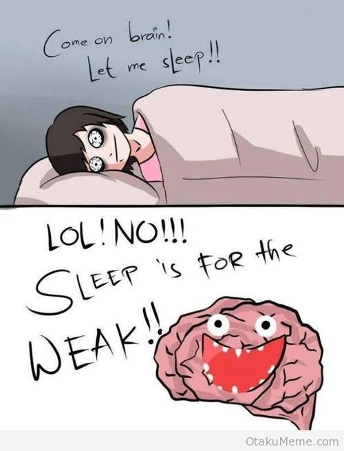 Putain de cerveau, m'oblige à regarder des anime le soir :c - meme