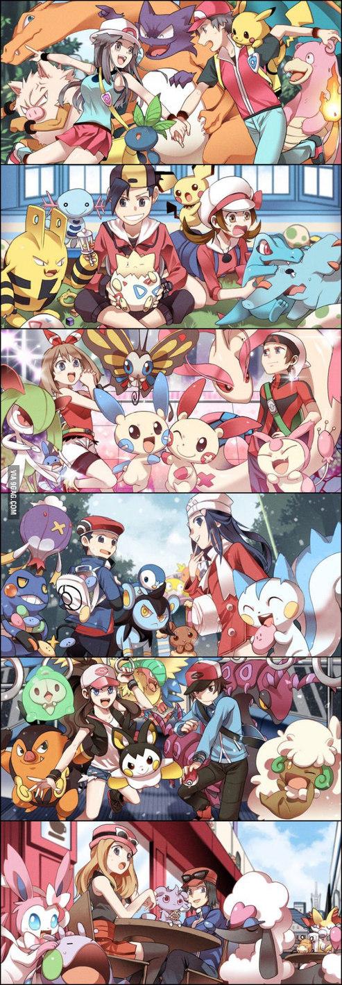 Todas as gerações de pokemon :va - meme